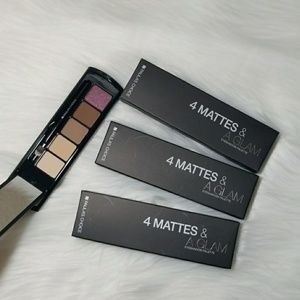 3pcs NEW - 4 Mattes & A Glam Eyeshadow Palette